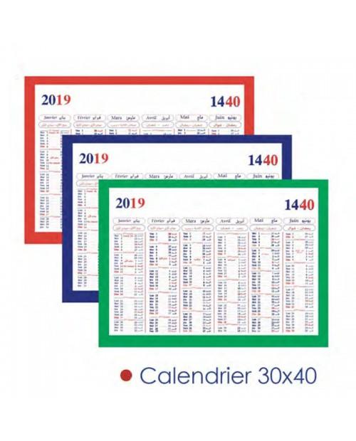 Calendrier 40x30